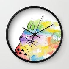My Rainbow Totoro Wall Clock