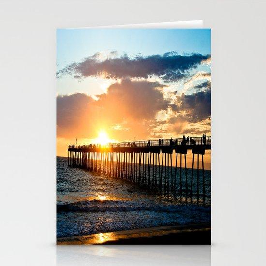 Hermosa Pier (2) Stationery Card