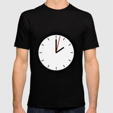 #33 Clock Mens Fitted Tee Black SMALL