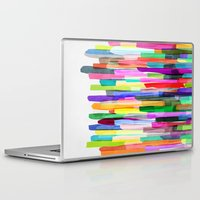 stripes Laptop & iPad Skins featuring Colorful Stripes 4 by Mareike Böhmer Graphics and Photography
