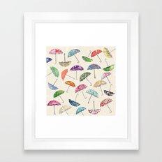 Umbrella & umbrellas Framed Art Print