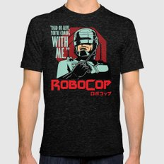 Robocop  Mens Fitted Tee Tri-Black SMALL