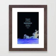Inspirational - Beauty Framed Art Print