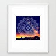 Night Mandala Framed Art Print