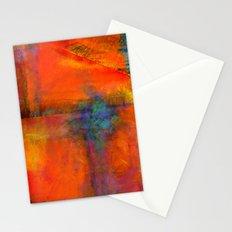 Orange - Abstract Digital Painting Stationery Cards