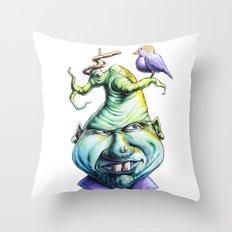 A Little Bird Throw Pillow