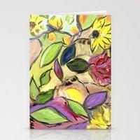 Flower Swirls Stationery Cards