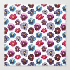 Watercolor violets Canvas Print