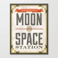 That's no Moon Canvas Print