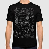 Fruity Mens Fitted Tee Black SMALL