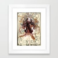 AND ALL HOPE WAS LOST Framed Art Print