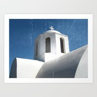 Greek Building  Art Print