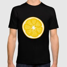 Lemon SMALL Mens Fitted Tee Black