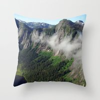Misty Fjords Throw Pillow