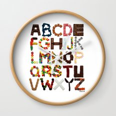 Candy Alphabet Wall Clock