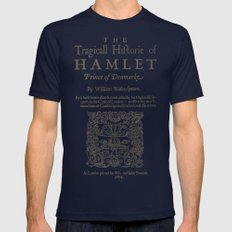 Shakespeare, Hamlet 1603 Mens Fitted Tee Navy SMALL