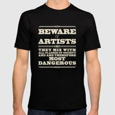 Beware of Artists SMALL Mens Fitted Tee Black