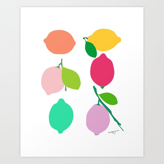 Lemon Art Print By Pragya Kothari Inc Society6