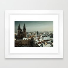 Prague never lets you go Framed Art Print