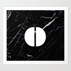 Black Marble - Alphabet O Art Print