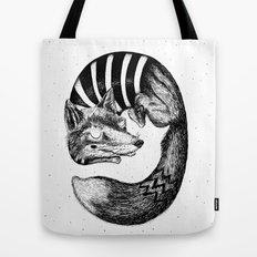 Sleepy Fox Tote Bag