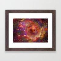 Astro Dog Framed Art Print