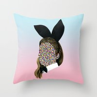 Playboy Bunny Girl Throw Pillow