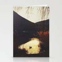 Sunset By The Lake Stationery Cards