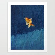 Art Print featuring Goldfish 2 by Mr And Mrs Quirynen