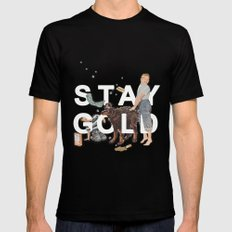 Stay Gold Mens Fitted Tee Black SMALL