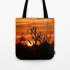 Silhouttes in a Sunrise Tote Bag