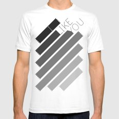 I Like You Graphik: Alternate White SMALL Mens Fitted Tee