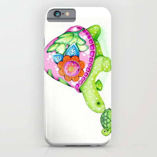 Mom and Baby Turtle iPhone & iPod Case