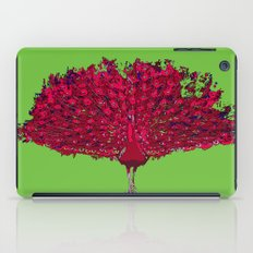 Peacock - red iPad Case