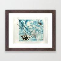 Mermaid of Zennor collagraph 2 Framed Art Print