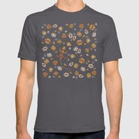 Floral #3 Mens Fitted Tee Asphalt SMALL