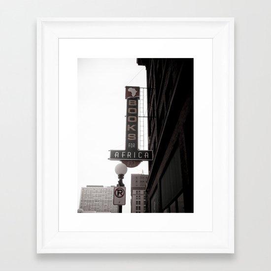 The City She Loves Me Framed Art Print