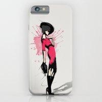 Pink Dress - Fashion Illustration iPhone 6 Slim Case