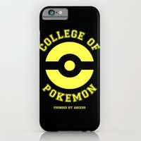 iPhone & iPod Case featuring COLLEGE OF POKEMON by BomDesignz