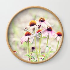 Coneflowers Wall Clock