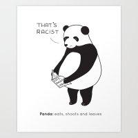 Pandas Not Guns Art Print