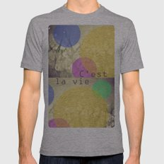 c'est la vie. Mens Fitted Tee Athletic Grey SMALL