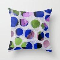 Watercolour Circles Throw Pillow