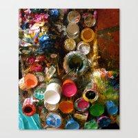 Paint Splatters Canvas Print
