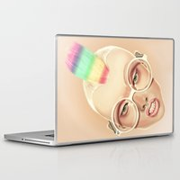 rainbow Laptop & iPad Skins featuring Rainbow by Giulio Rossi