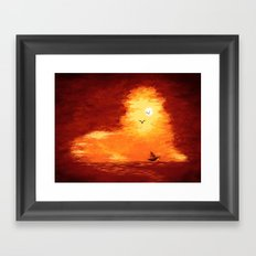 The Horizon Lion Framed Art Print
