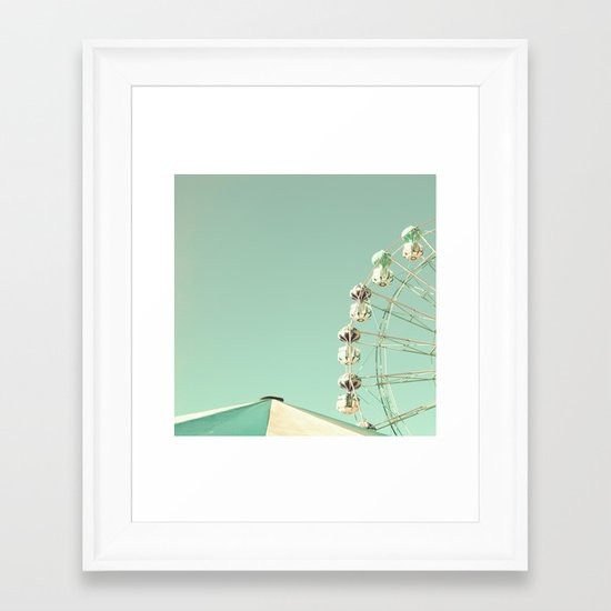 Ferris Wheel - The sky was the limit Framed Art Print