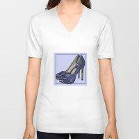 Blue sweet shoe -or....? Unisex V-Neck