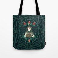 Yule Log Lady (in Green) Tote Bag