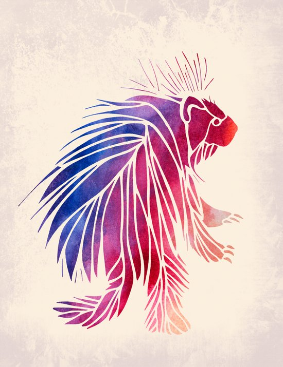 Watercolor Porcupine Canvas Print